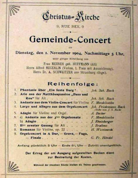 original program of the concert